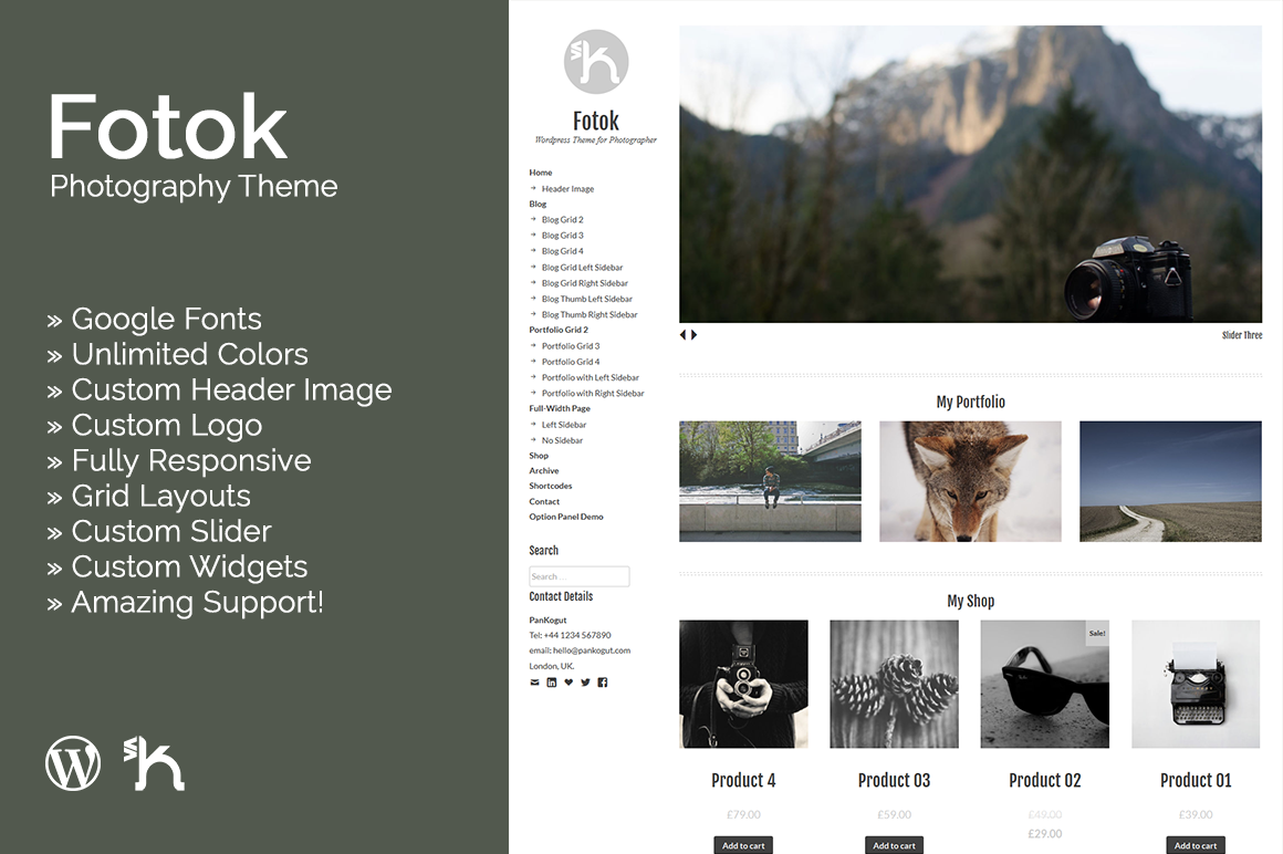 Fotok-Wordpress Photography Theme