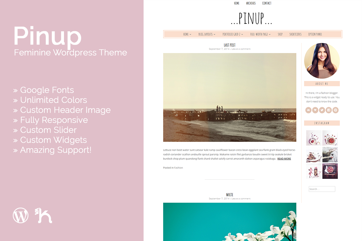 Pinup - Feminine WordPress Theme