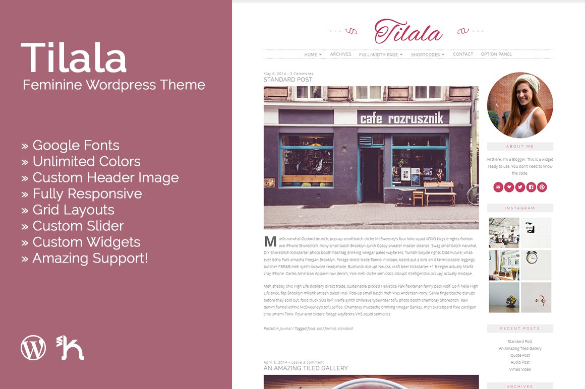 Tilala - Feminine WordPress