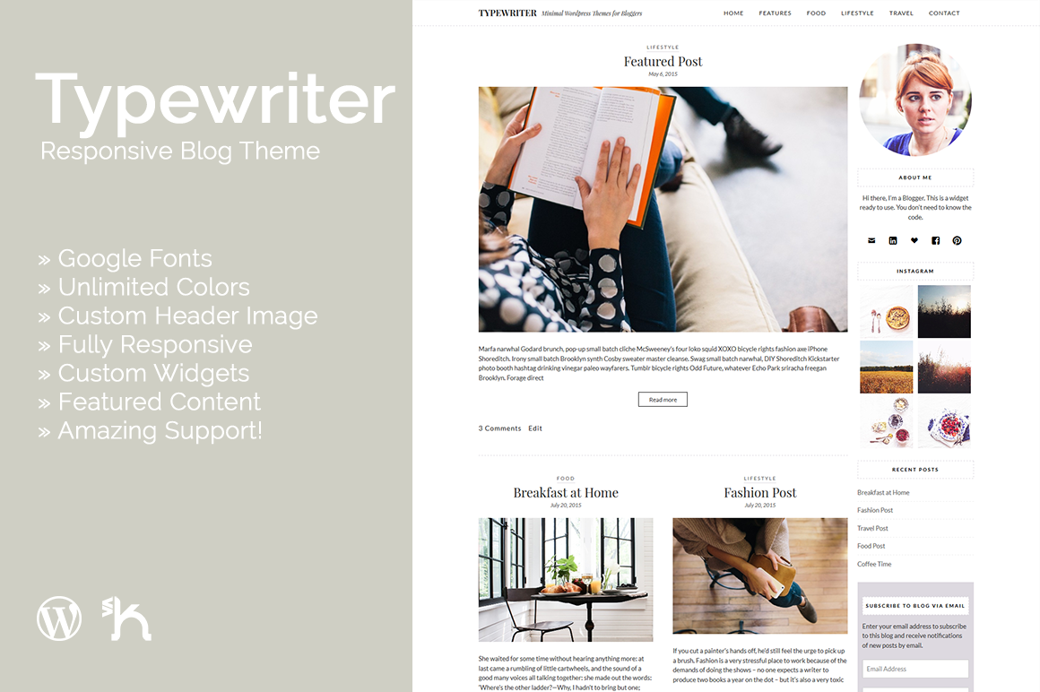 Typewriter - Responsive Blog Theme