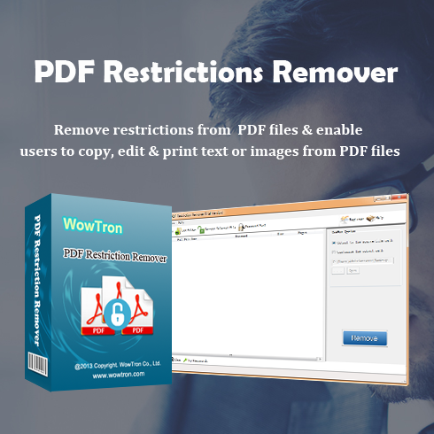 WowTron PDF Restriction Remover – just $5