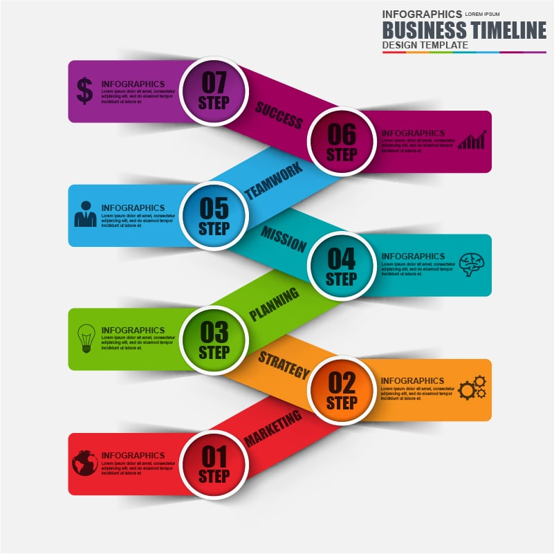 42 Business 3D Infographic Elements + 5 Flat Infographics