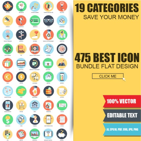 MEGA Bundle: 1500 New Vector Icons - 49012 490x490