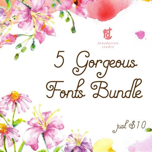 5 Gorgeous Fonts Bundle - just $10 by Designs.net - 49013 490x490