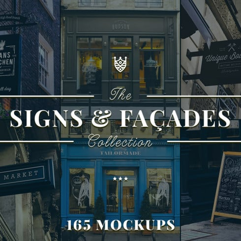 165 Sign and Faсade Mockups: Outdoor Sign Mockups - just $45! - 4903 490x490
