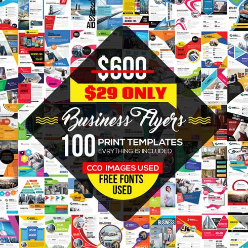 100 Business Flyers Bundle - Only $29! - 490x490 12