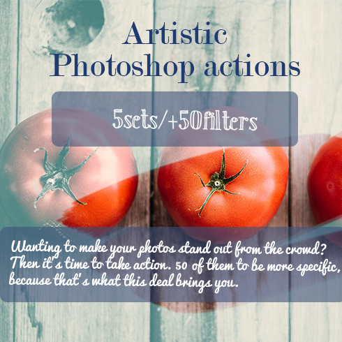 50 Artistic Photoshop Actions – Only $18 - 490x490 11