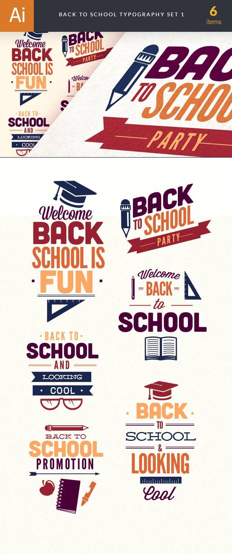 designtnt-back to school typography 1-vector