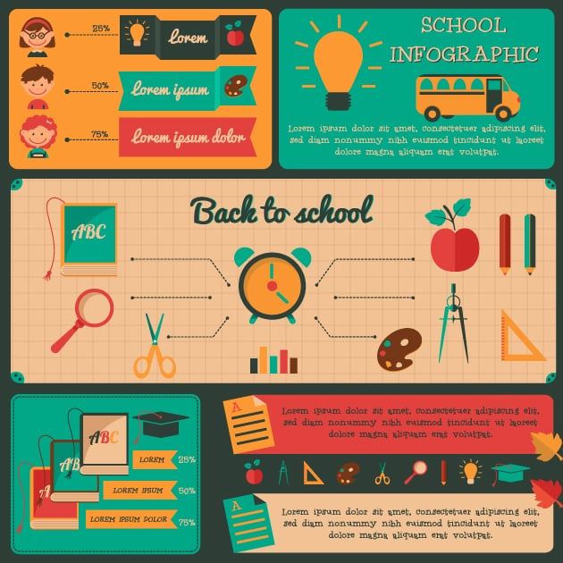 designtnt-back to school infograpic set 1-vector