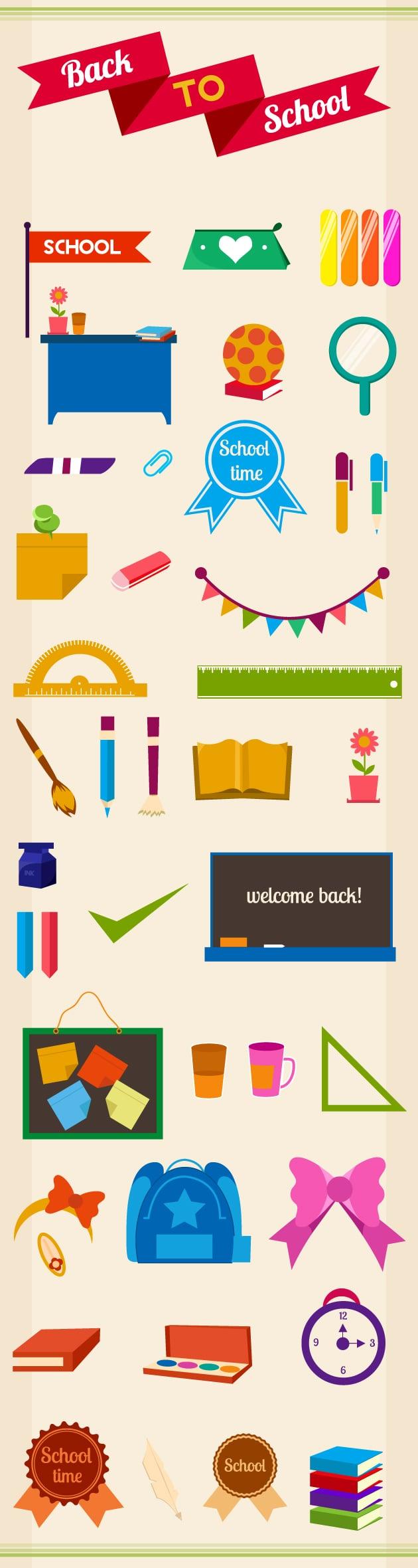 designtnt-back to school vector elements-vector