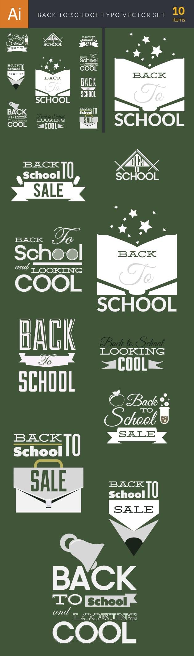 designtnt-back to school vector typography set 1-vector