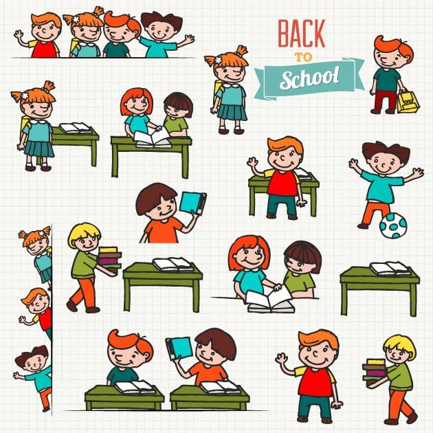 designtnt-kids school vector set 1-vector