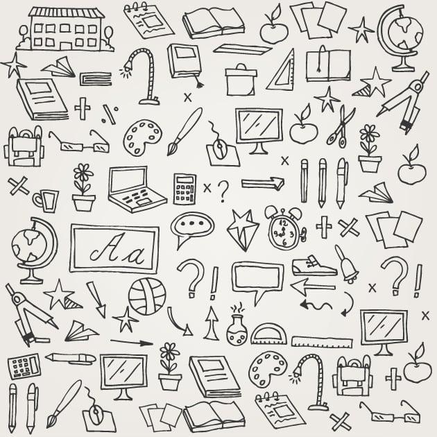 designtnt-school doodle vector set 1-vector