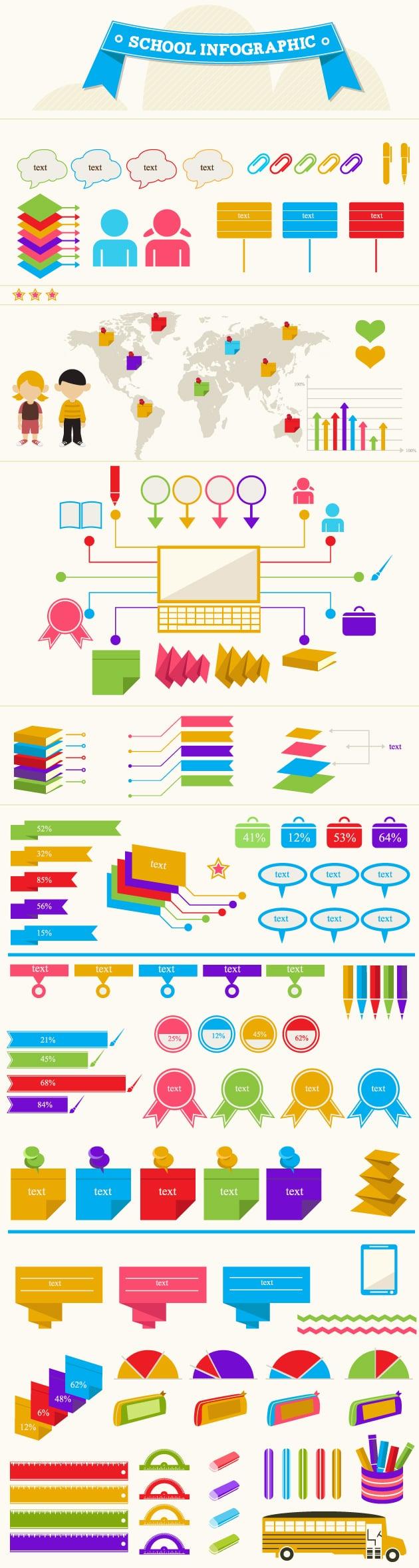 designtnt-school infographic-vector