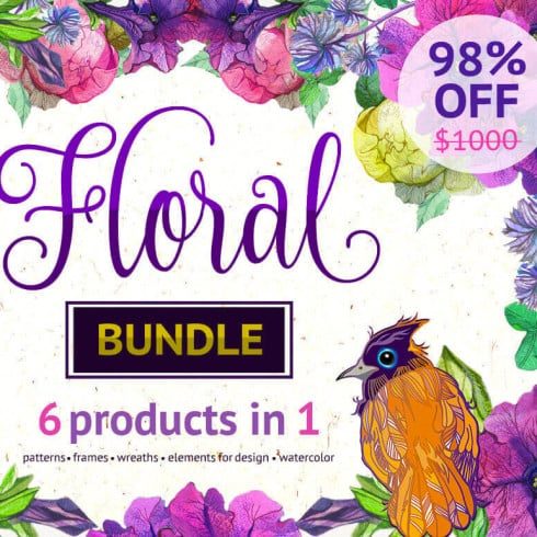 100+ Amazing Floral Patterns and Elements -  only $24 - Untitled 22 490x490