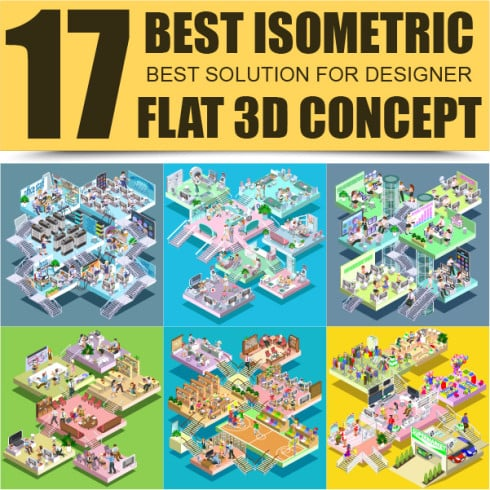 Isometric Art Bundle: Awesome Concepts with an Awesome Discount - glavnaya 01 2 490x490