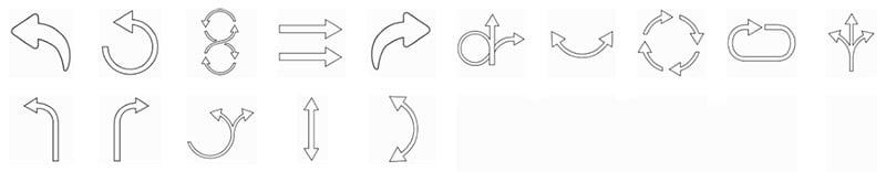 outline-arrows