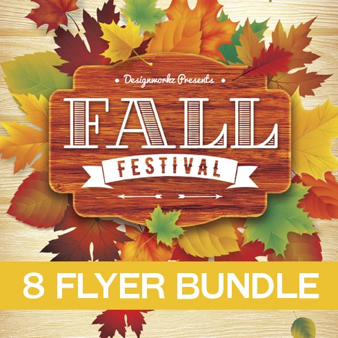 Fall Flyer Bundle - only $15 - 01 Preview490x490pxjpg