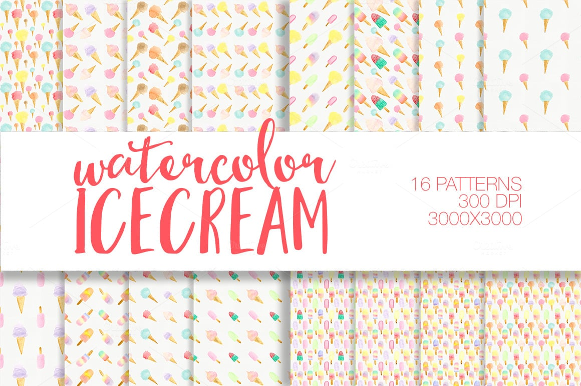 Sweet Watercolor Bundle: 320+ Elements with Extended License