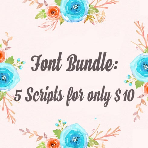 Modern Calligraphy Bundle: 5 Font Scripts only for $10 - 495 490x490