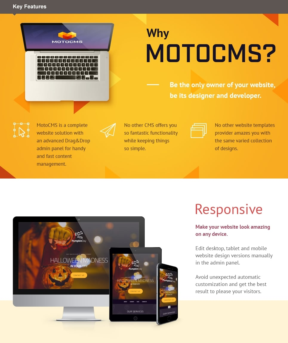 Halloween Responsive Moto CMS 3 Template