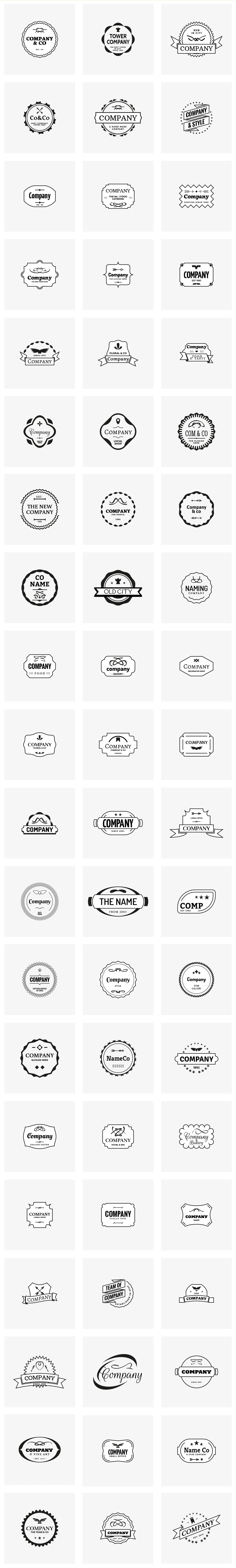 A Massive Logo Bundle: 430 Logo Designs + 200 Elements