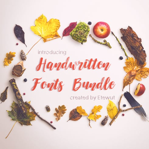 Author - handwritten fonts bundle4