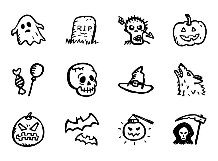 130+ Best Halloween Clipart in 2020: Photos, Pumpkins, Greeting Cards - spooky icons free