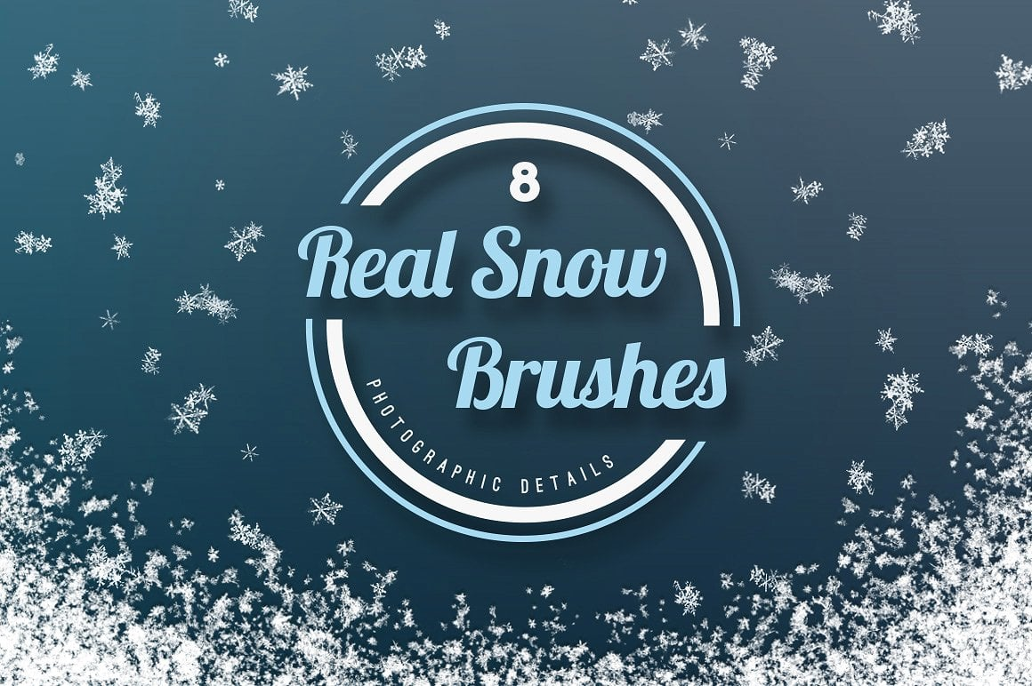 Real Snow Brushes for Photoshop CS1+