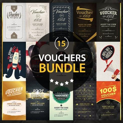 Vouchers Bundle: 15 Amazing Designs  - just $15 - 1