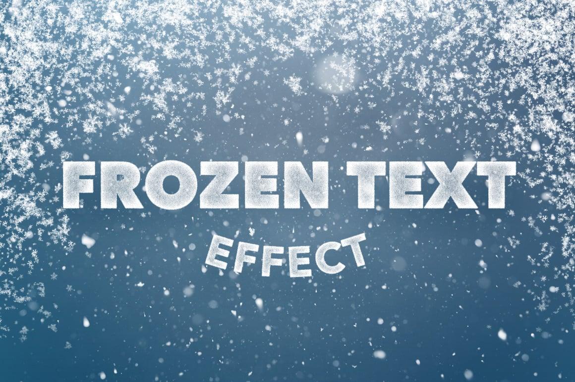 Frozen Text Effect for Photoshop CS4+