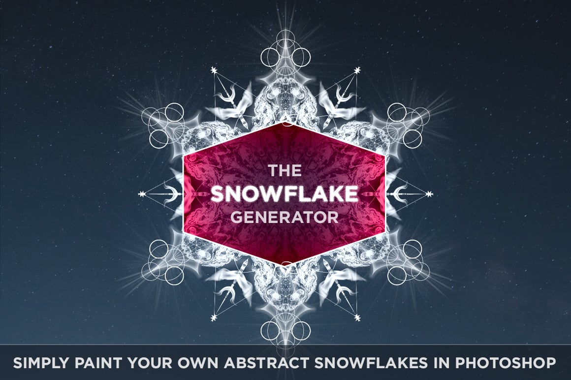 Abstract Snowflake Generator for Photoshop CS4+