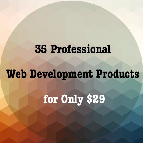 Get 35 Professional Web Development Products for Only $29 - 490 3