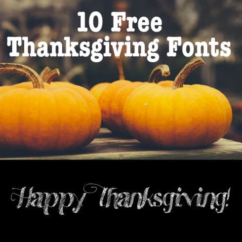 10 Free Thanksgiving Fonts - 490 490x490