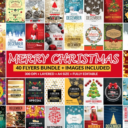 1Christmas Bundle: 65 Amazing Templates + 26 Elements