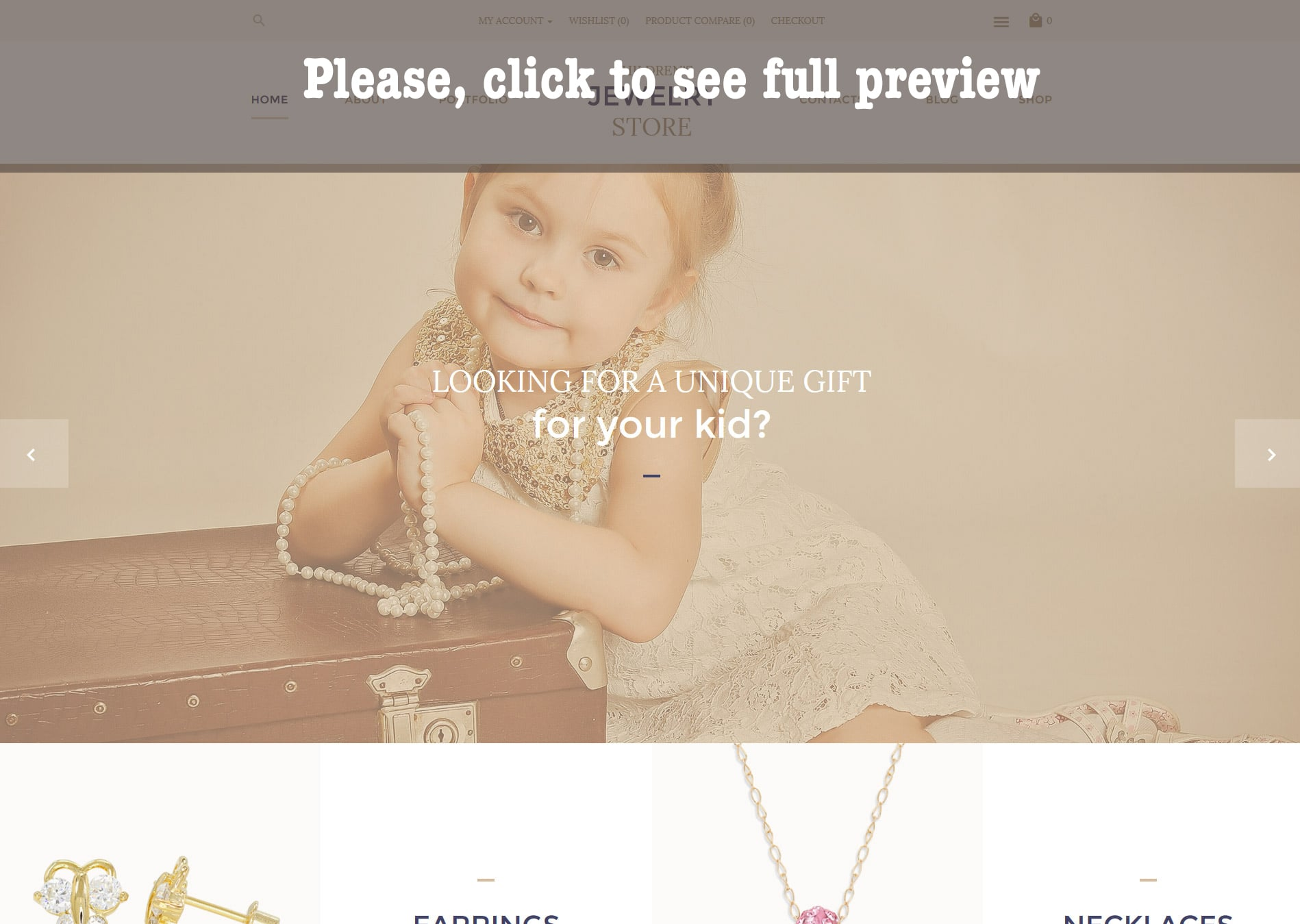 Children's Jewelry Store OpenCart Template