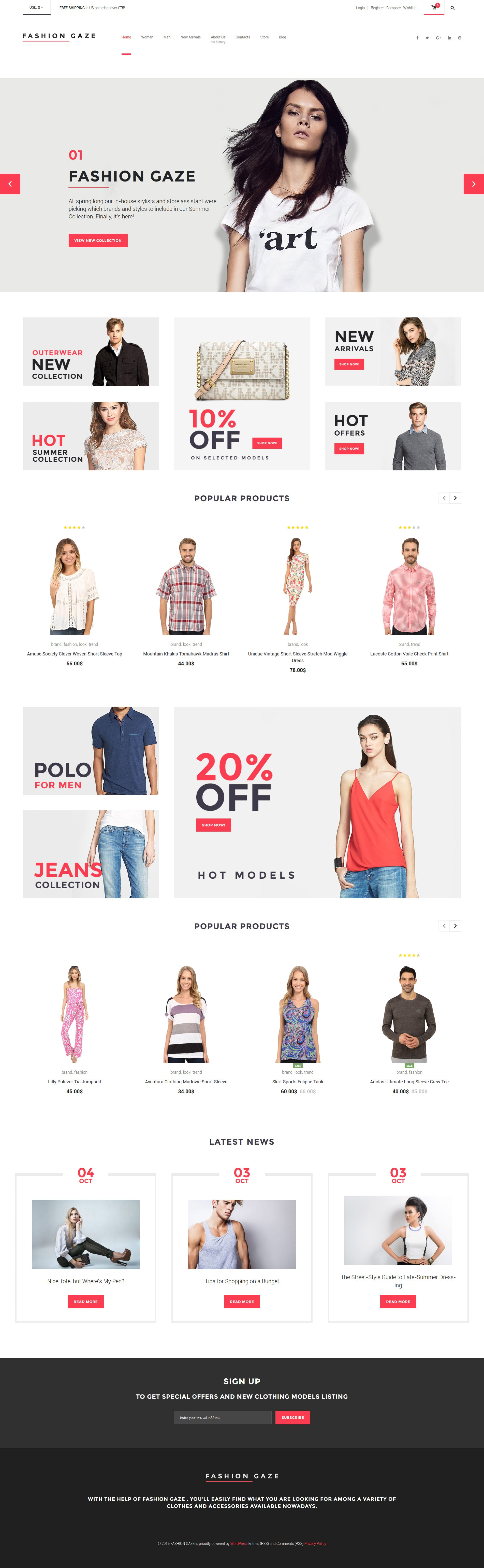 Free WooCommerce Theme for Apparel Store