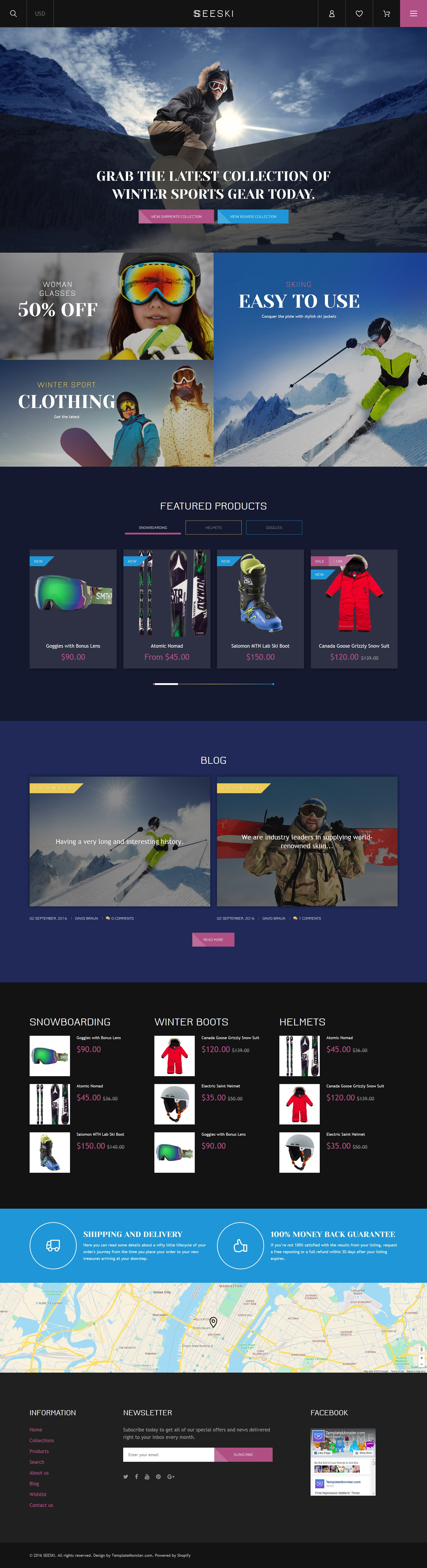 Skiing Responsive Shopify Theme