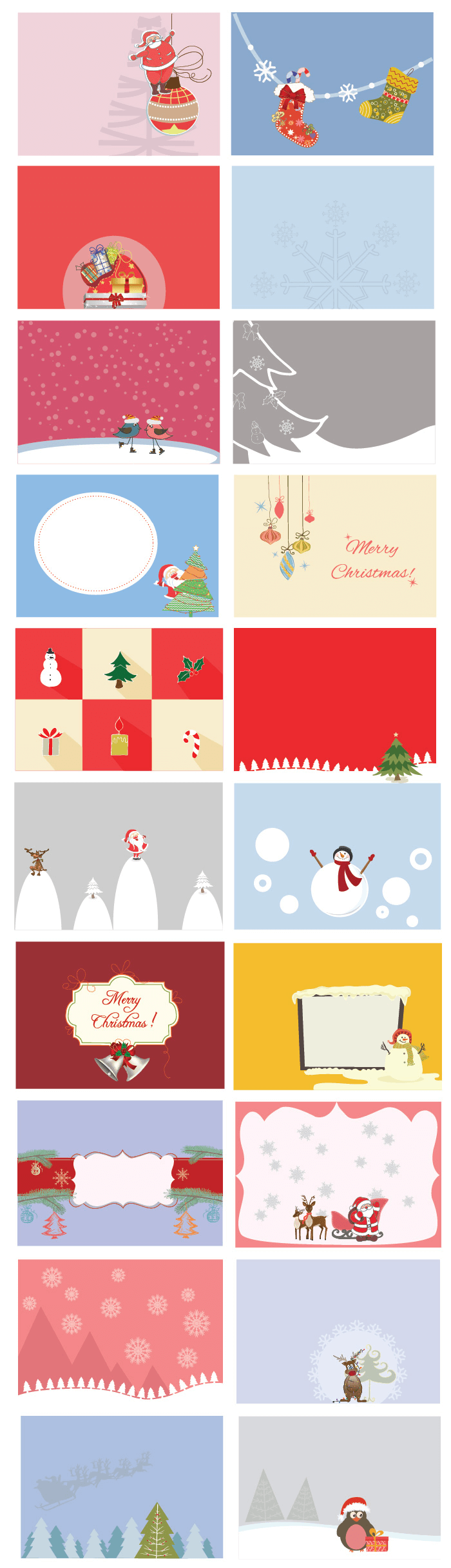 Images with New Year's gifts, Santa Claus and holiday socks emphasize the mood of winter.