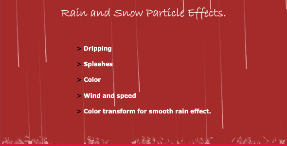 Snow & Rain Particle Effects Tool