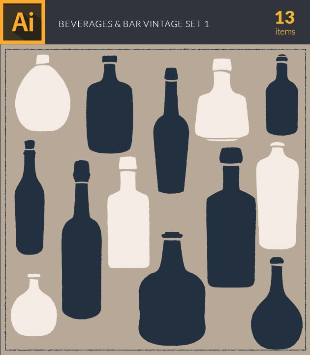vector-beverage-and-bar-vintage-vector-set1