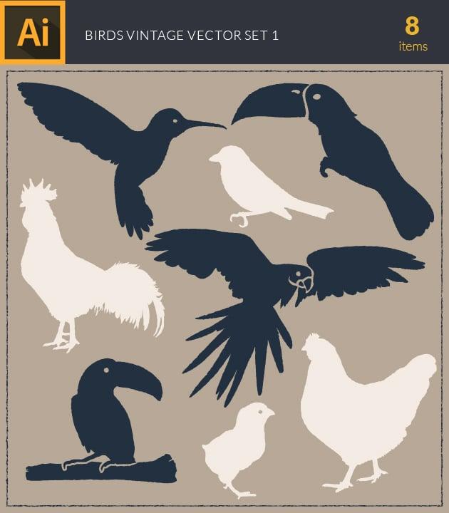 vector-birds-vintage-vector-set1