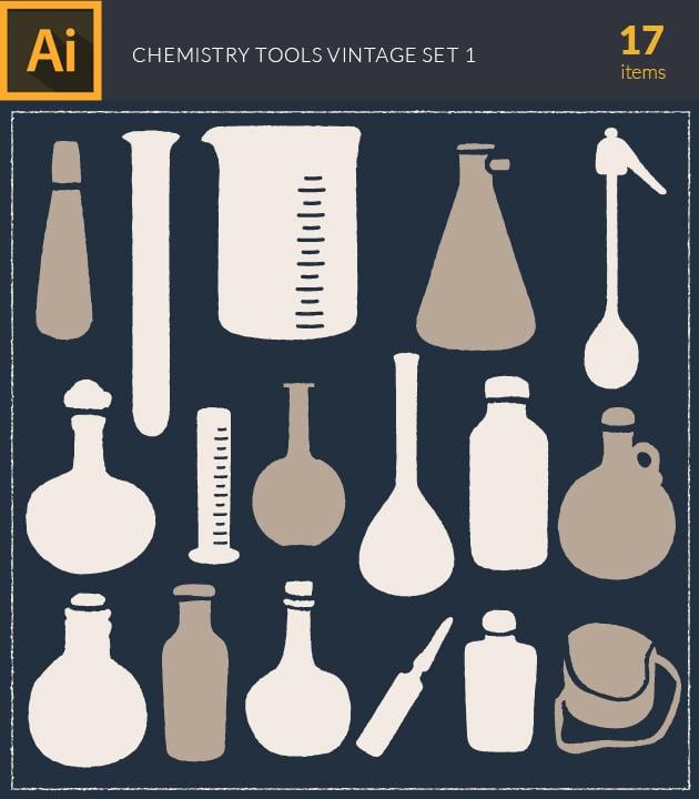 vector-chemistry-vintage-vector-set1