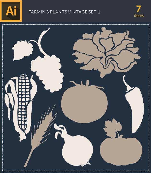 vector-farming-plant-vintage-vector-set1