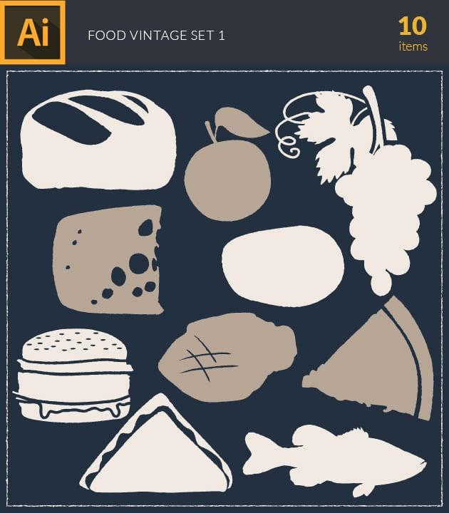 vector-food-vintage-vector-set1