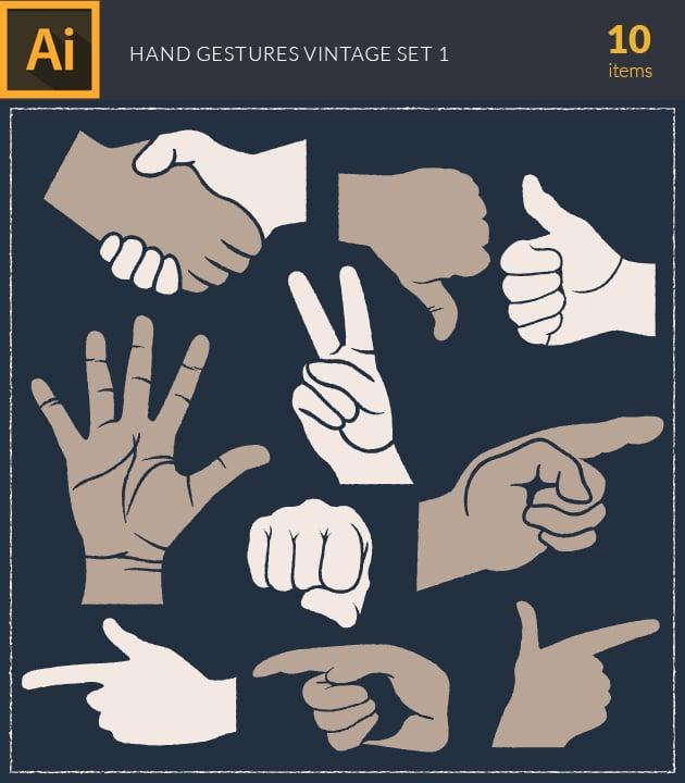vector-hand-gestures-vintage-vector-set-1