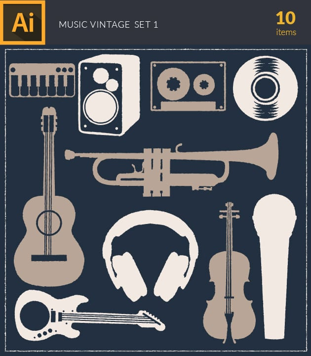 vector-music-vintage-vector-set-1