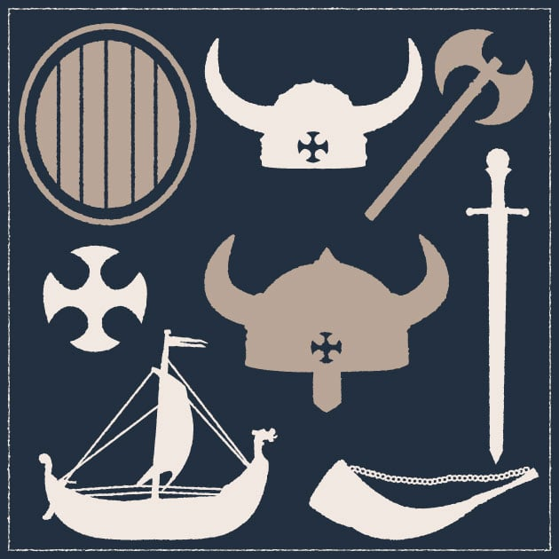 vector-viking-war-gear-vintage-vector-set-1