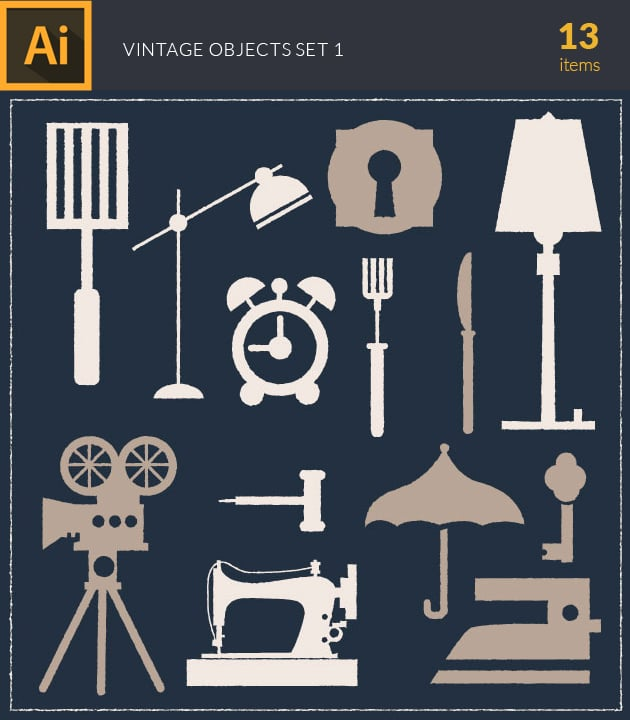 vector-vintage-objects-vector-set-1