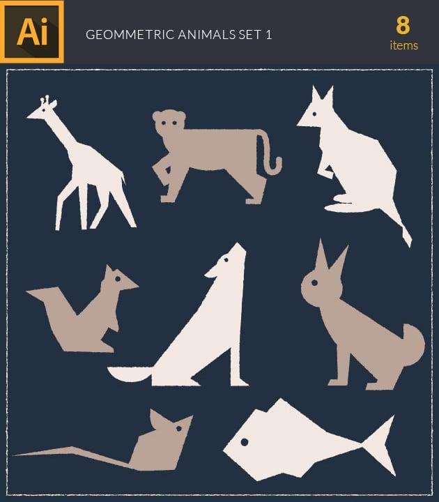 vector-wild-animals-geometric-vintage-vector-set-1